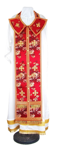 Epitrakhilion set - rayon Chinese brocade (red-gold)