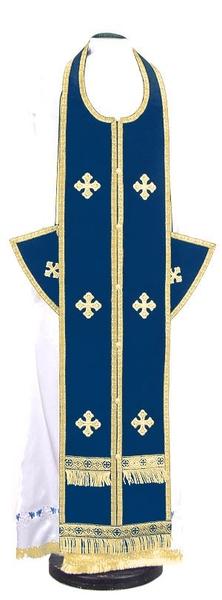 Epitrakhilion set - natural German velvet (blue-gold)
