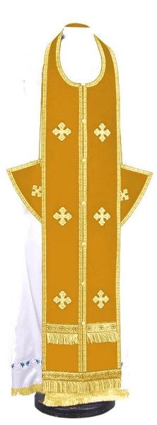 Epitrakhilion set - natural German velvet (yellow-gold)