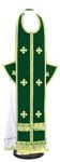 Epitrakhilion set - natural German velvet (green-gold)