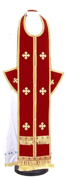 Epitrakhilion set - natural German velvet (red-gold)