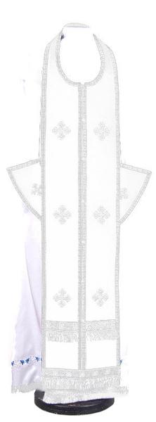 Epitrakhilion set - natural German velvet (white-silver)