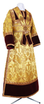 Subdeacon vestments - metallic brocade BG5 (yellow-claret-gold)