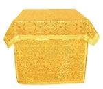 Holy Table vestments - brocade B (yellow-gold)