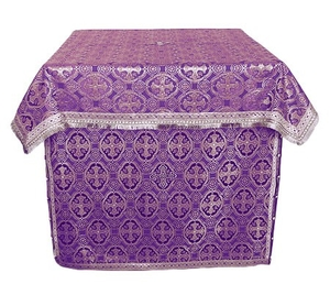 Holy Table vestments - brocade B (violet-silver)