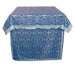 Altar Table vestments - brocade B (blue-silver)