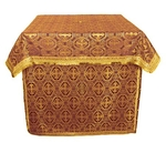 Altar Table vestments - brocade B (claret-gold)