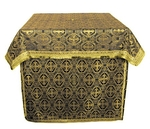 Altar Table vestments - brocade B (black-gold)