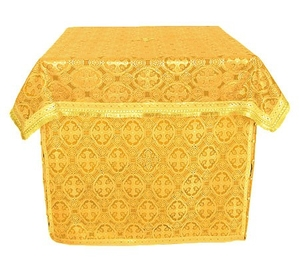 Altar Table vestments - brocade B (yellow-gold)