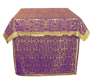 Altar Table vestments - brocade B (violet-gold)