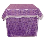 Altar Table vestments - brocade B (violet-silver)