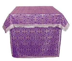 Altar Table vestments - brocade B (violet-silver)