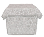 Altar Table vestments - brocade B (white-silver)