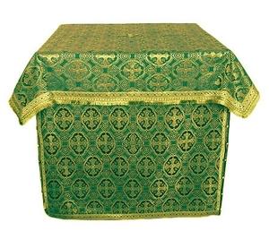 Altar Table vestments - brocade BG1 (green-gold)
