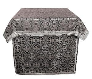 Altar Table vestments - brocade BG1 (black-silver)