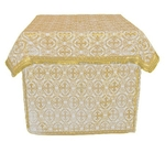 Altar Table vestments - brocade BG1 (white-gold)