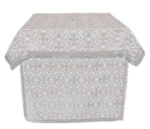 Altar Table vestments - brocade BG1 (white-silver)