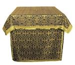 Altar Table vestments - brocade BG2 (black-gold)
