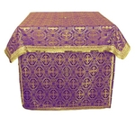 Altar Table vestments - brocade BG3 (violet-gold)