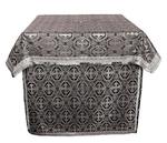 Altar Table vestments - brocade BG3 (black-silver)