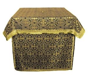 Altar Table vestments - brocade BG4 (black-gold)