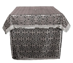 Altar Table vestments - brocade BG5 (black-silver)