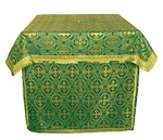 Altar Table vestments - brocade BG6 (green-gold)