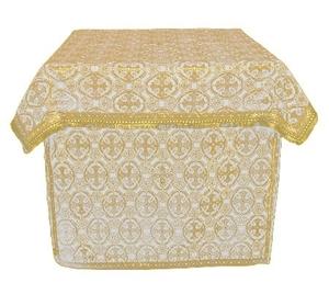 Altar Table vestments - brocade BG6 (white-gold)