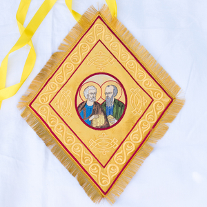 The fully embroidered Palitsa with icon of st. Peter and Paul