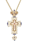 Pectoral chest cross no.152 blue