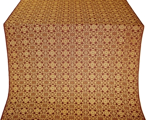 Dormition metallic brocade (claret/gold)