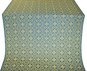 Dormition silk (rayon brocade) (blue/gold)