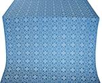 Dormition silk (rayon brocade) (blue/silver)