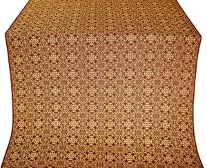 Dormition silk (rayon brocade) (claret/gold)