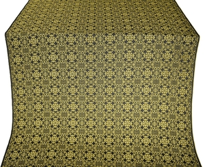 Dormition silk (rayon brocade) (black/gold)