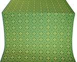 Dormition silk (rayon brocade) (green/gold)