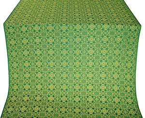 Dormition silk (rayon brocade) (green/gold)