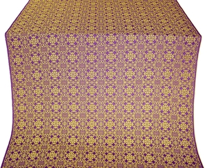 Dormition silk (rayon brocade) (violet/gold)