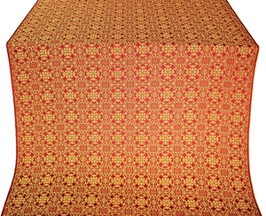 Dormition silk (rayon brocade) (red/gold)