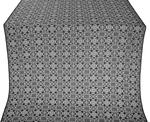 Dormition silk (rayon brocade) (black/silver)
