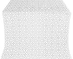 Dormition silk (rayon brocade) (white/silver)