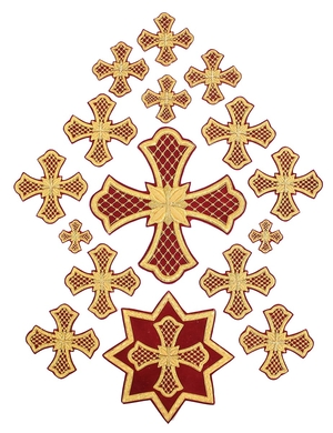 Hand-embroidered crosses - P33