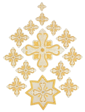 Hand-embroidered crosses - P02