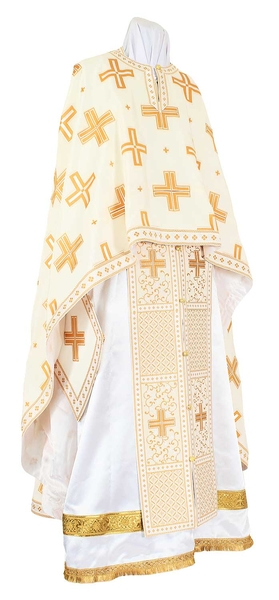 Greek Priest vestments - Economy Polistavrion yellow/gold
