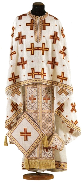 Greek Priest vestments - Economy Polistavrion claret