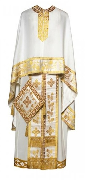 Greek Priest vestments - Economy S4 white