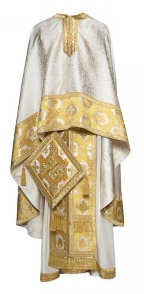 Greek Priest vestments - Economy 189 white/gold