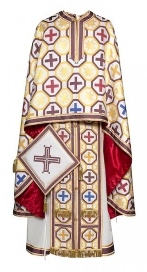 Greek Priest vestments - Economy 164 white/gold