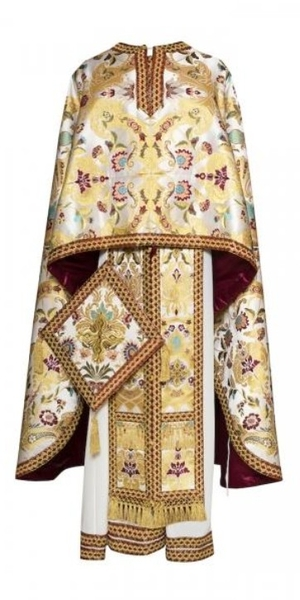 Greek Priest vestments - Economy Constantinople white/gold