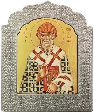 Icon: Holy Hierarch Spyridon of Tremethius - 4